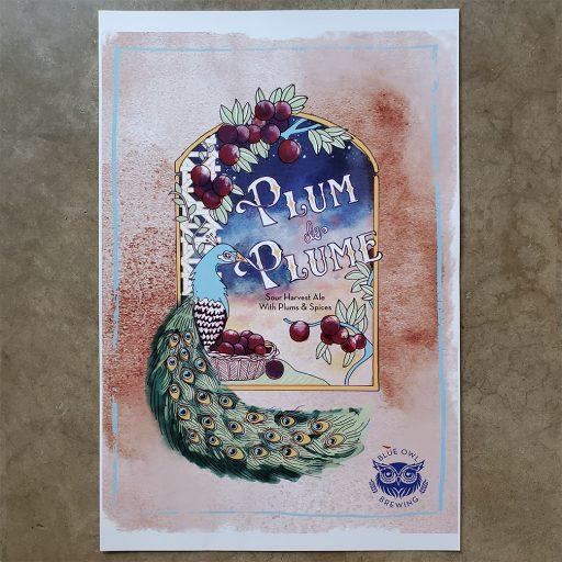 Plum de Plume Poster