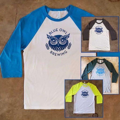 Blue Owl Baseball Tee